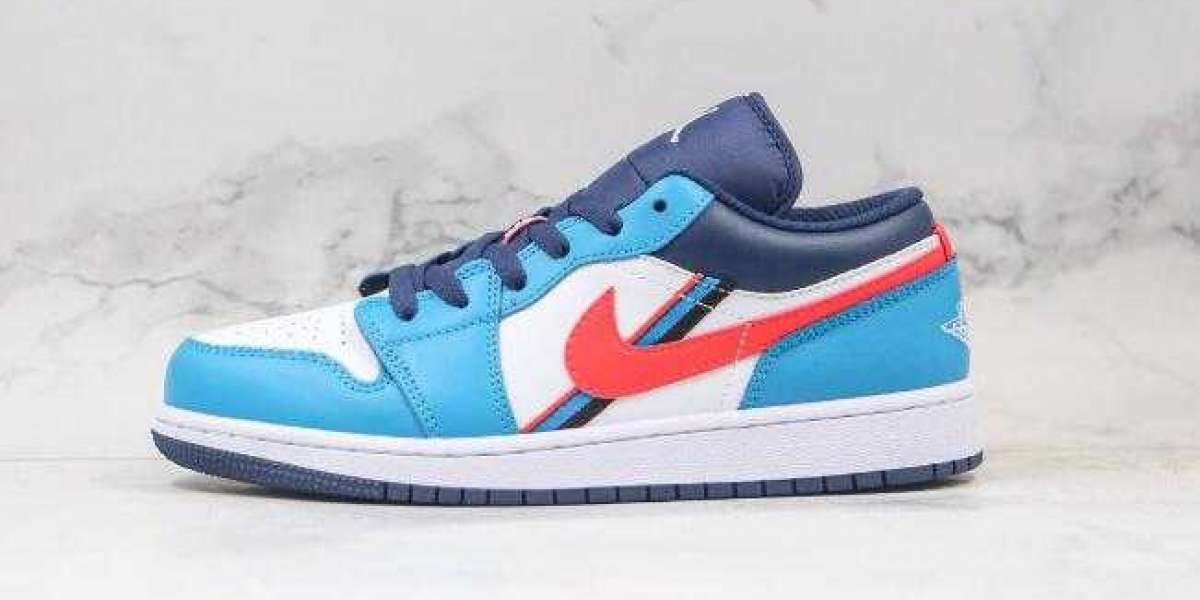 CV4892-100 Air Jordan 1 Low Game Time Blue White for Sale