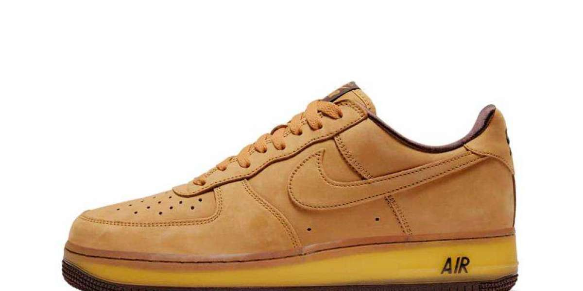 Free Shipping Nike Air Force 1 Wheat Dark Mocha for Sale